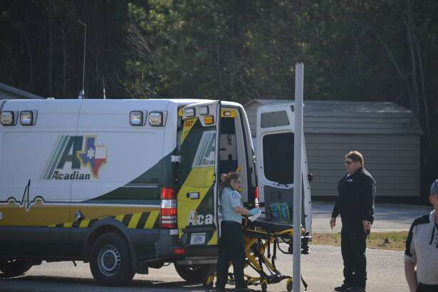 A man was air-lifted to a local hospital after he was shot in the leg.