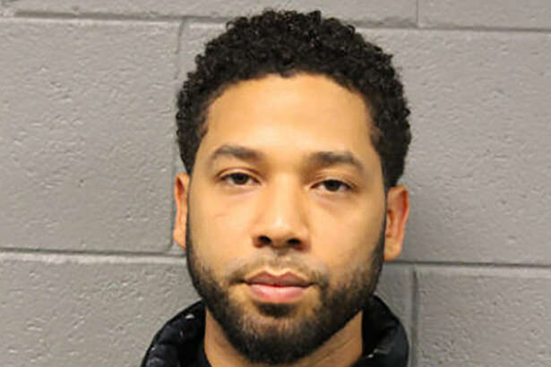 "This February 21, 2019, booking photo released by the Chicago Police Department shows actor Jussie Smollett. - Smollett is to appear in court on February 21 after being arrested and charged with lying to authorities about being the victim of a racist and homophobic attack in Chicago. Smollett, a gay and black actor who stars in the Fox network drama ""Empire,"" is facing felony criminal charges of disorderly conduct and filing a false police report."