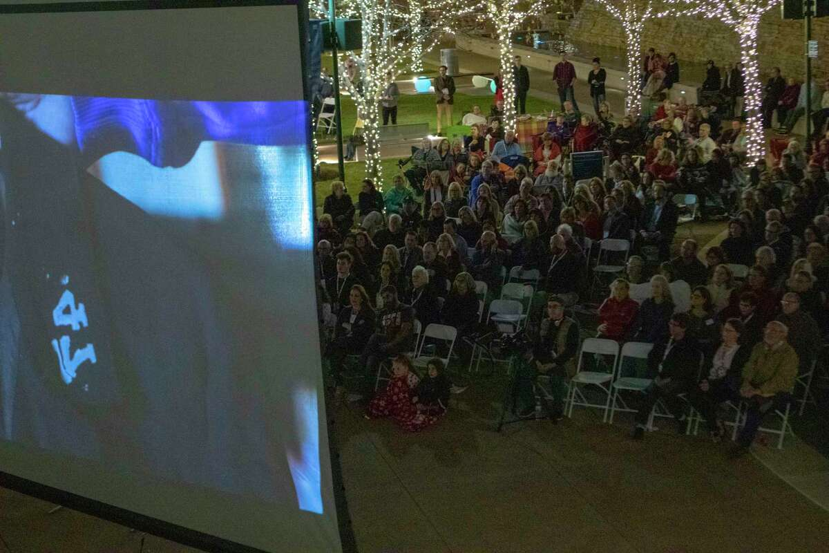 After successfully creating their own cultural arts district, The Woodlands Township's Economic Development Committee revisited the possibility of applying for grant funding from the Texas Commission on the Arts. Here, spectators watch the short film