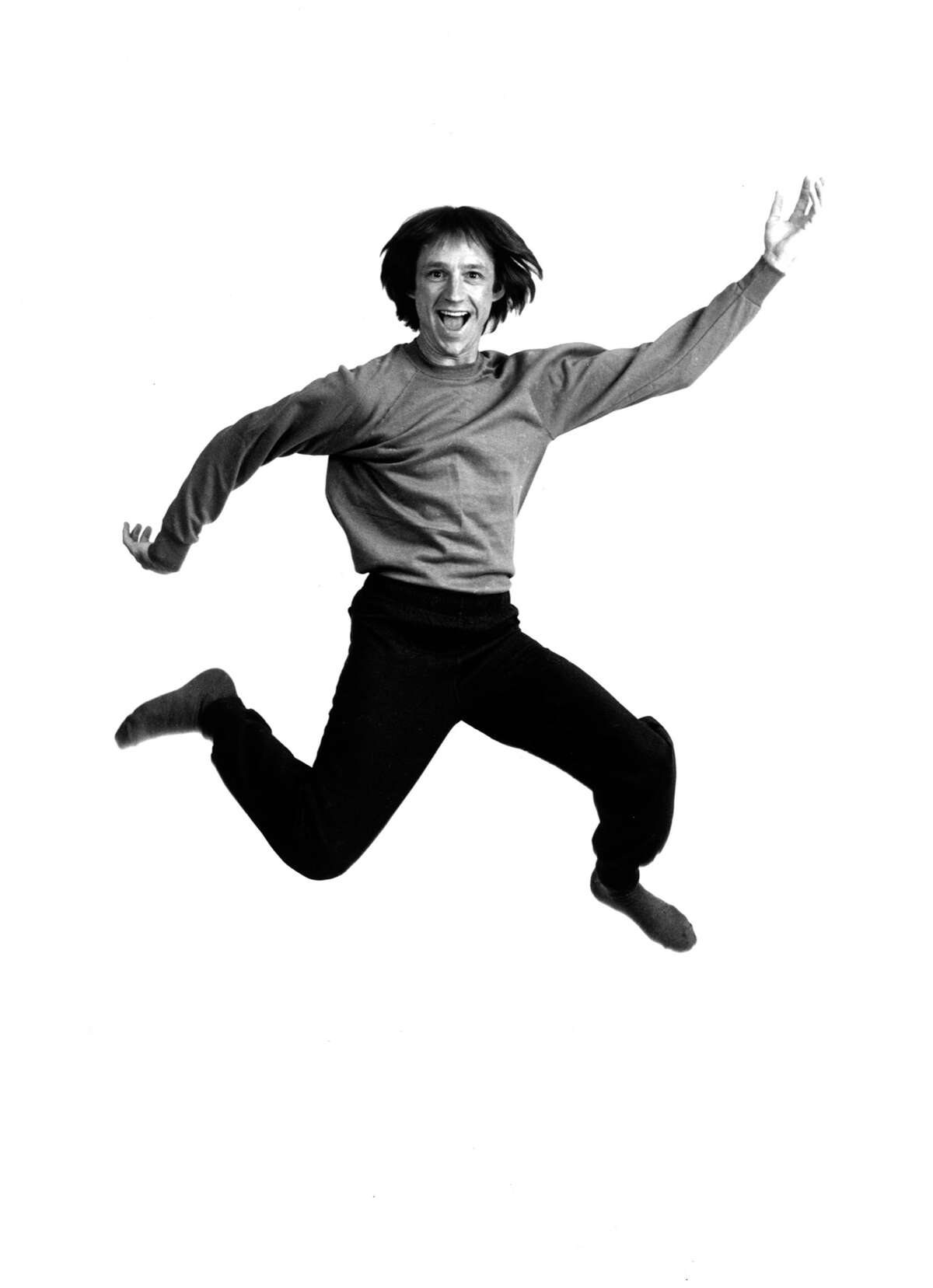 Photo of Peter TORK and MONKEES; Posed studio portrait of Peter Tork, jumping (Photo by Richard E. Aaron/Redferns)