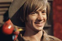 Peter Tork on the set of the television show The Monkees in June 1967 in Los Angeles, California. (Photo by Michael Ochs Archives/Getty Images)