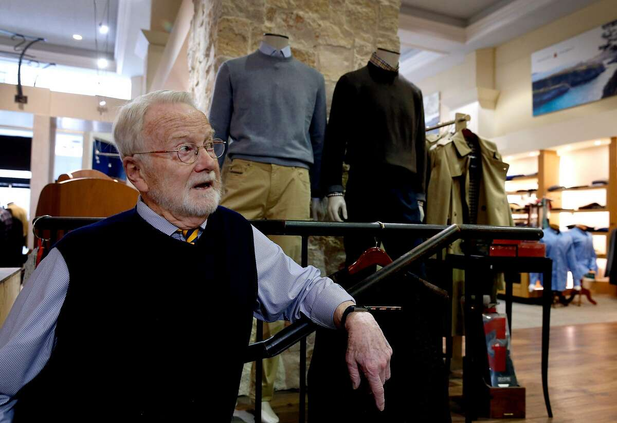 Owner Walt Schorno is seen inside his Hound Gentlemen's Clothier store on Sutter Street in San Francisco, Calif. on Wednesday, Feb. 20, 2019. The longtime owners are retiring at the end of the month and may close the shop if they are unable to find a buyer.