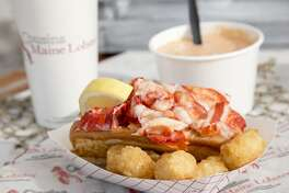 A lobster roll from Cousins Maine Lobster. The company has recently awarded one of its food truck franchises to a couple in Southern Connecticut.