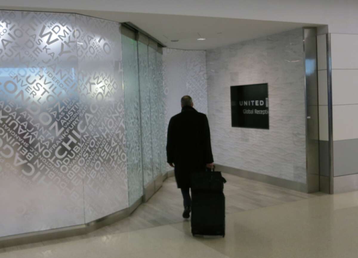 At SFO, United Global Services members use an exclusive check in area