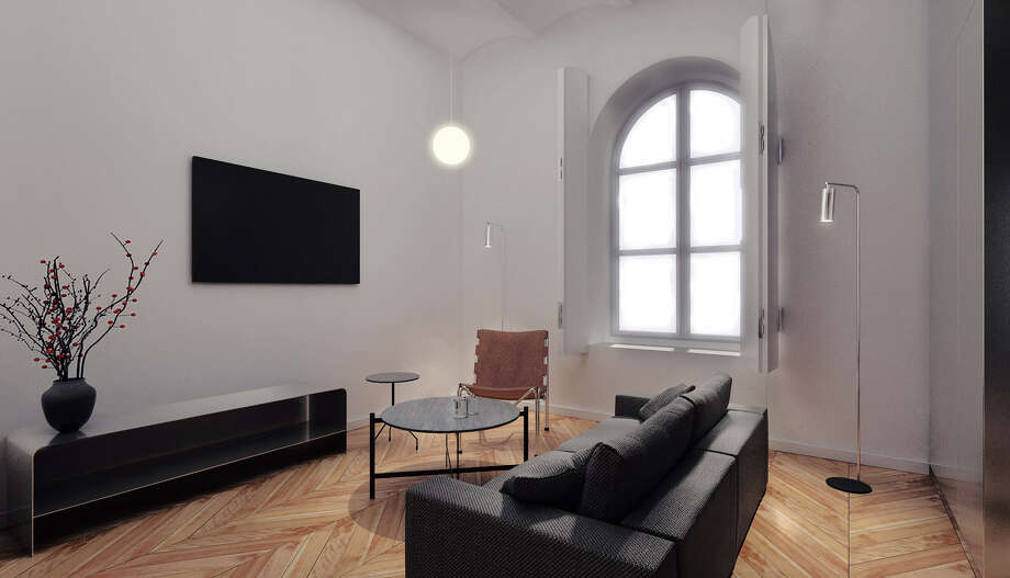 A suite-livingroom at the Hotel Ottilia in Copenhagen. Photo: Brochner Hotels. / The Washington Post