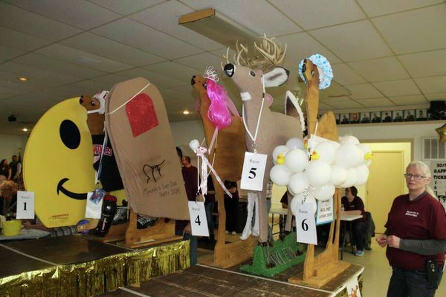 Each year, businesses go all out in decorating their camels for the annual Thumb Industries Camel Races fundraiser. This year, doors will open at 5:30 p.m. March 2 at the Bad Axe Knights of Columbus Hall. (Tribune File Photo)