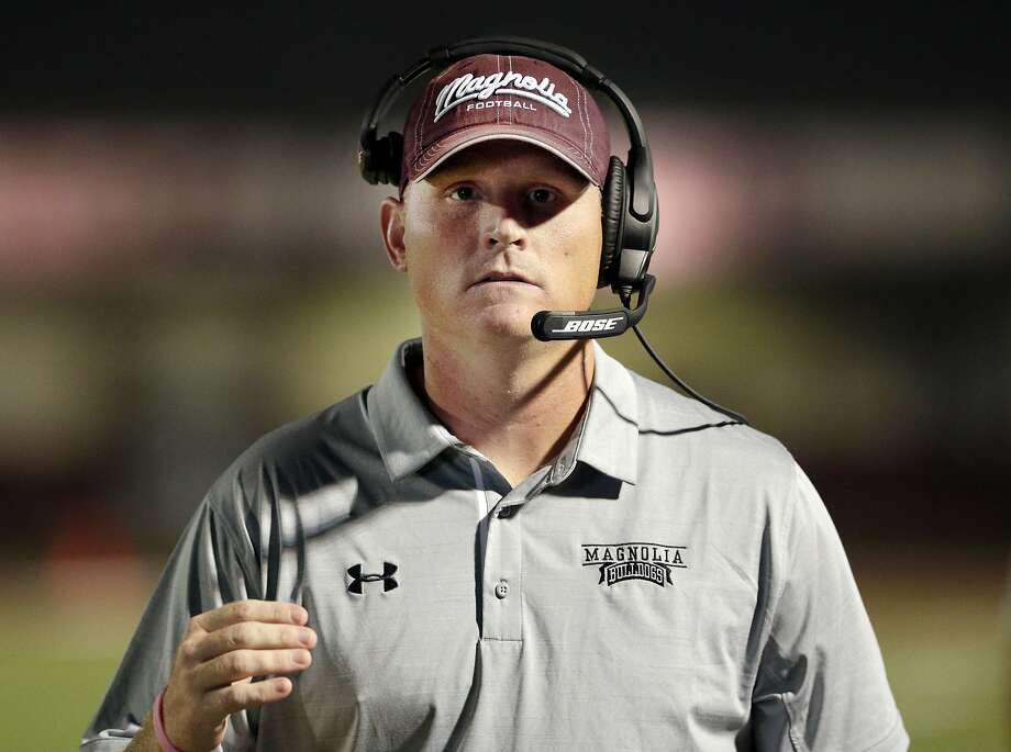 Magnolia head coach Sterling Doty during the first half of their game  against Willis Friday 442e58a0e568