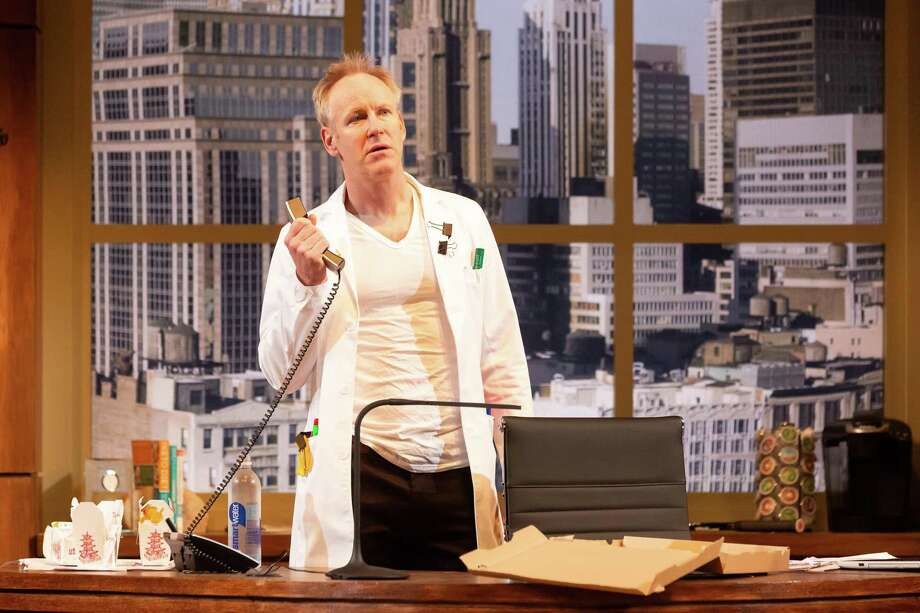 Chris Hutchison as Dr. Irving Baer in the Regional Premiere of Quack by Eliza Clark. Quack is directed by Judith Ivey and runs through March 10, 2019 in the Alley's Neuhaus Theatre. Photo: Lynn Lane