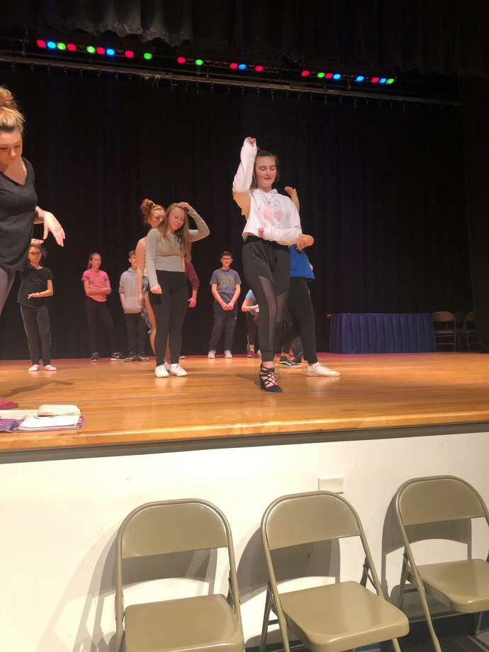 """Rehearsals for the Rensselaer City High production of """"The Addams Family."""" Photo: Rensselaer High School"""