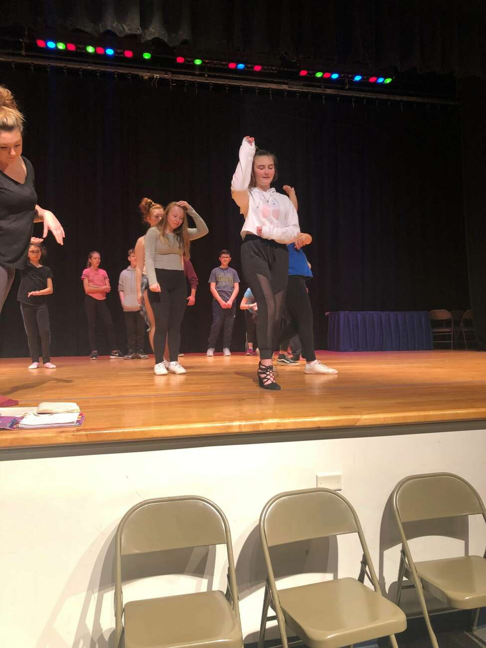 Rehearsals for the Rensselaer City High production of