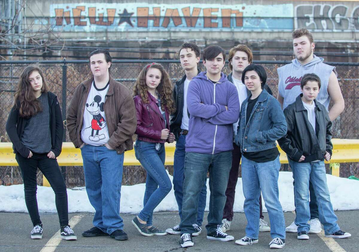 """The cast of Whitney Players' """"The Outsiders,"""" coming to Thornton Wilder Auditorium."""