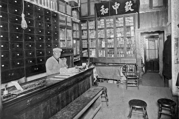 A Chinese apothecary in Chinatown in San Francisco, California, mid 1880s. (Photo by Underwood Archives/Getty Images)