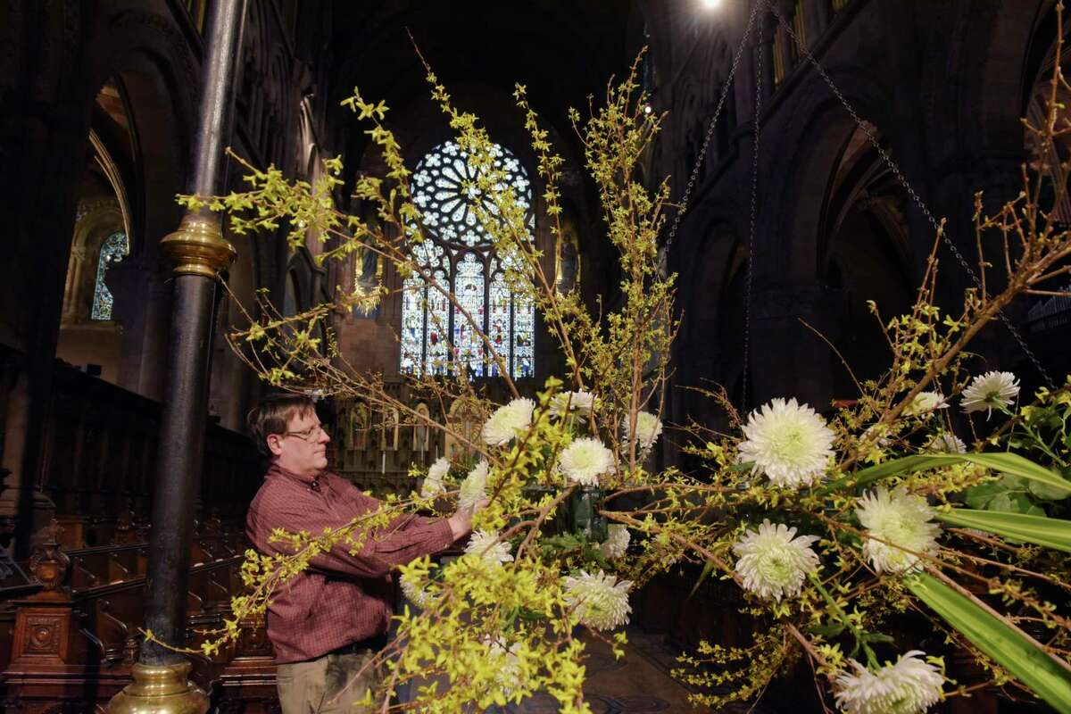 """All weekend: The Capital Region's floral artisans show their craft in the Cathedral of All Saints' second annual """"Cathedral in Bloom"""" flower show."""