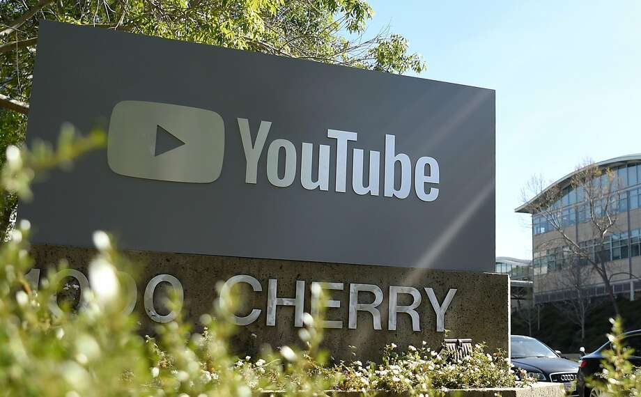 """(FILES) In this file photo taken on April 03, 2018, YouTube's headquarters is seen during in San Bruno, California. - Google-owned YouTube said on February 21, 2019, it was taking action to close a loophole that enabled users to share comments and links on child pornography over the video-sharing service. The response came after a YouTube creator this week revealed what he called a """"wormhole"""" that allowed comments and connections on child porn alongside innocuous videos. (Photo by JOSH EDELSON / AFP)JOSH EDELSON/AFP/Getty Images Photo: Josh Edelson, AFP/Getty Images"""
