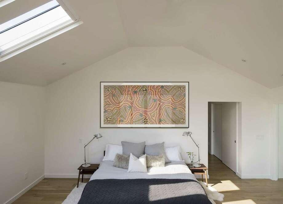 The master bedroom at 23 Oak Ridge Park in Westport. Photo: Matthew Williams / Contributed Photo / Norwalk Hour contributed