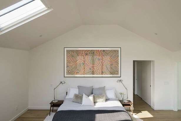 The master bedroom at 23 Oak Ridge Park in Westport.
