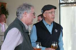 Phil Markowski, right, Head Brewmaster and Co-founder For Two Roads Brewing Company