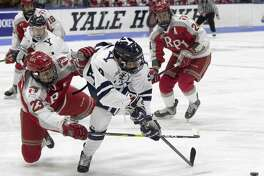 Yale's Robbie DeMontis was named the ECAC player of the week after a goal against Colgate and three assists against Cornell.