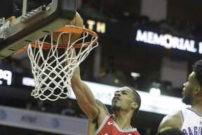 Houston Rockets Gerald Green puts in a basket against Sacramento Kings at during the first half of game at Toyota Center Saturday, Nov. 17, 2018, in Houston.