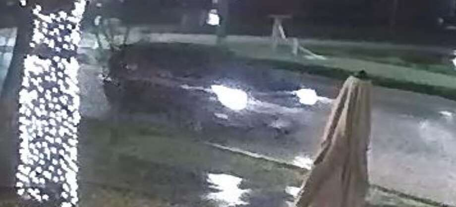 San Marcos police released images of a suspect vehicle in hopes of solving a hit and run case on Feb. 9 that left one victim in the ICU. The vehicle may be a GMC Yukon or Chevrolet Tahoe, police said. Photo: San Marcos Police Department
