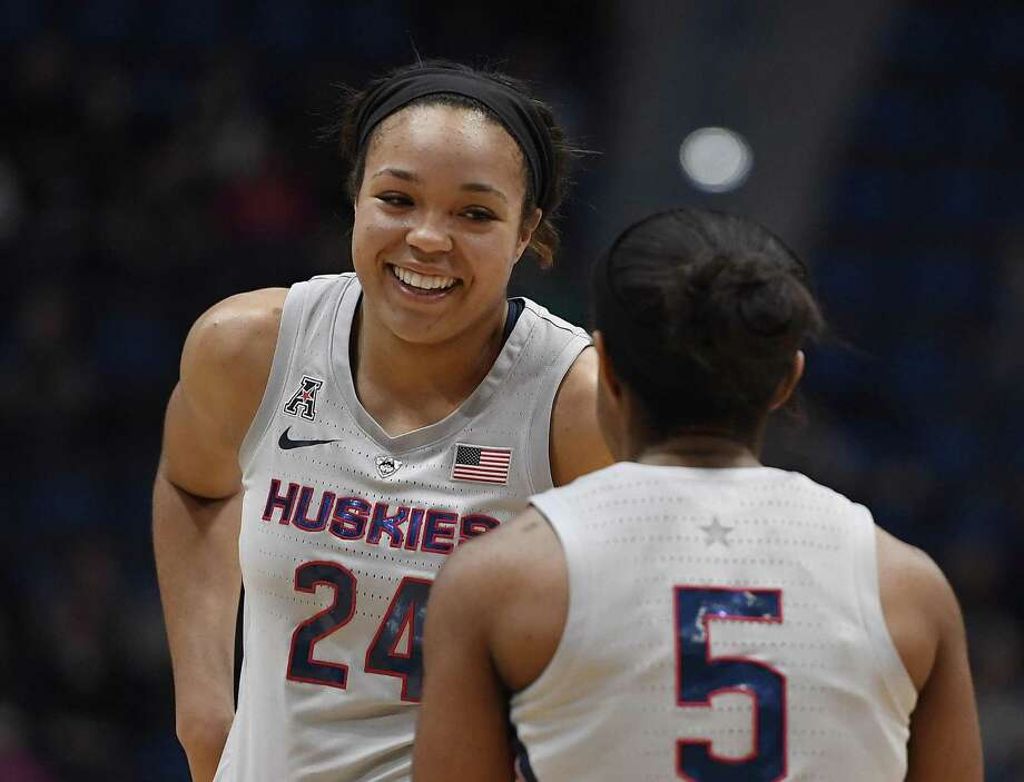 UConn's Napheesa Collier was named the AAC Player and Defensive Player of the Year on Friday. Photo: Jessica Hill / Associated Press / Copyright 2019 The Associated Press. All rights reserved