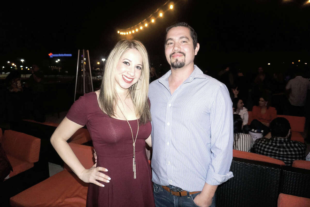 Angie and Fernando Villarreal at Rooftop Lounge