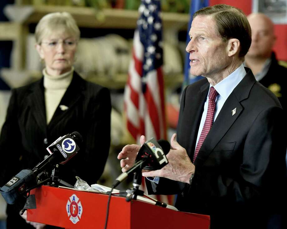 U.S. Sen. Richard Blumenthal, D-Conn., and West Haven Mayor Nancy Rossi. Rossi announced there would be no tax increase in 2019-20 budget. Photo: Peter Hvizdak / Hearst Connecticut Media File / New Haven Register