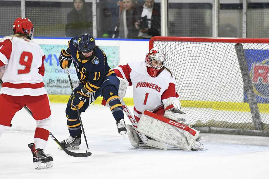 Sacred Heart University senior goalie Sarah Erban. Photo: Sacred Heart University / Contributed Photo / Greenwich Time Contributed