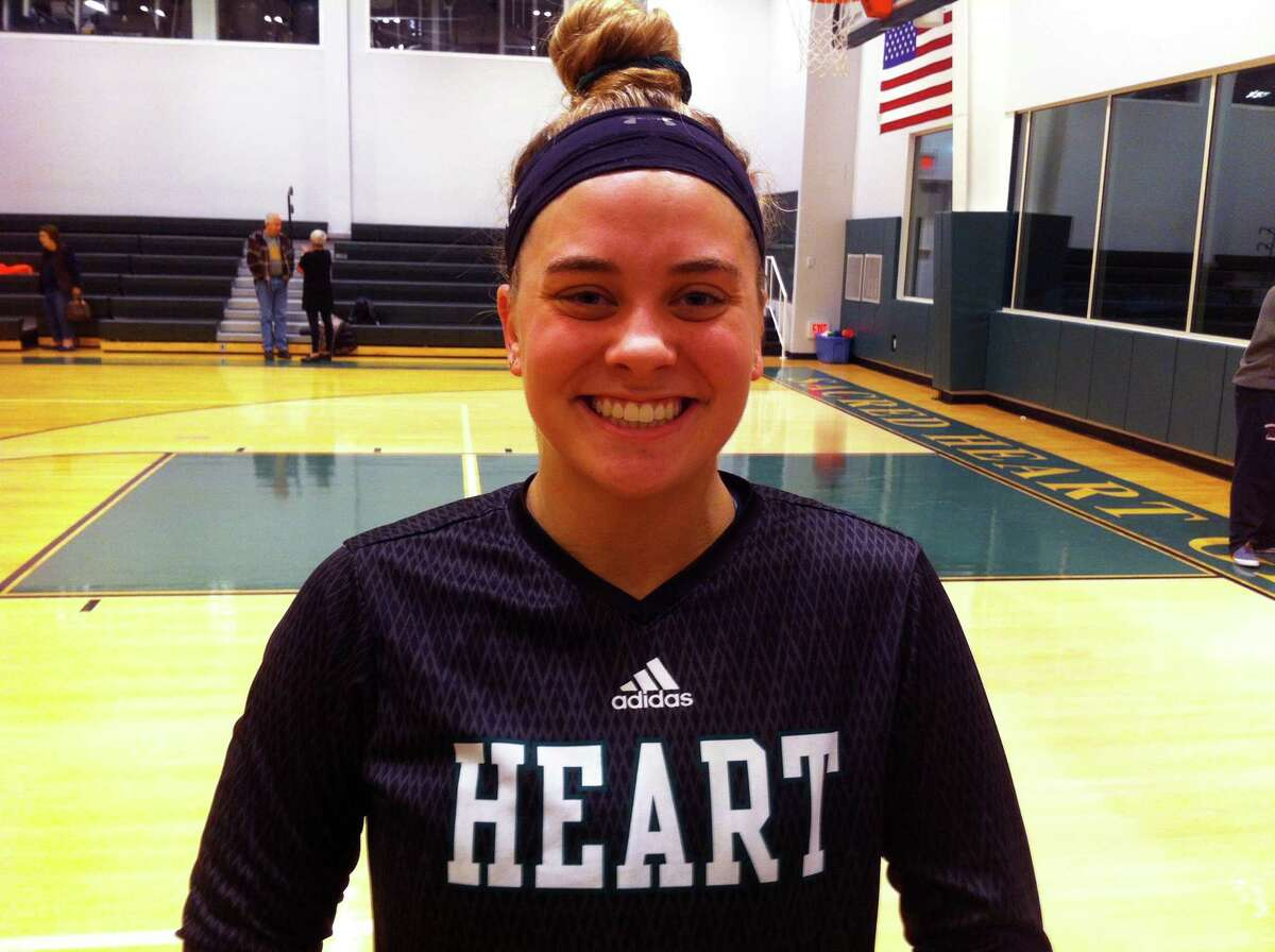 Leah Atkins scored 12 points in Sacred Heart Greenwich's 65-42 win over Greenwich Academy in the FAA Tournament semifinals on Thursday, Feb. 21 at Sacred Heart.