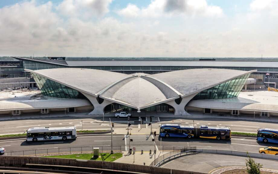The iconic, 512-room TWA Hotel at New York's JFK airport is now taking reservations and will officially open on May 15, 2019 Photo: Photo By Max Touhey
