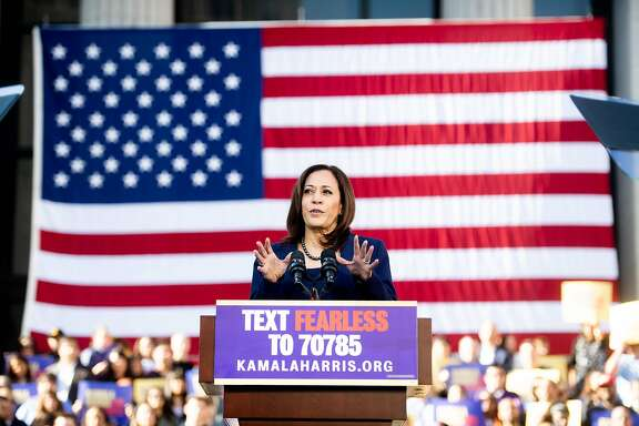 California Senator Kamala Harris speaks a rally launching her presidential campaign on January 27, 2019 in Oakland, California. (Photo by NOAH BERGER / AFP)NOAH BERGER/AFP/Getty Images