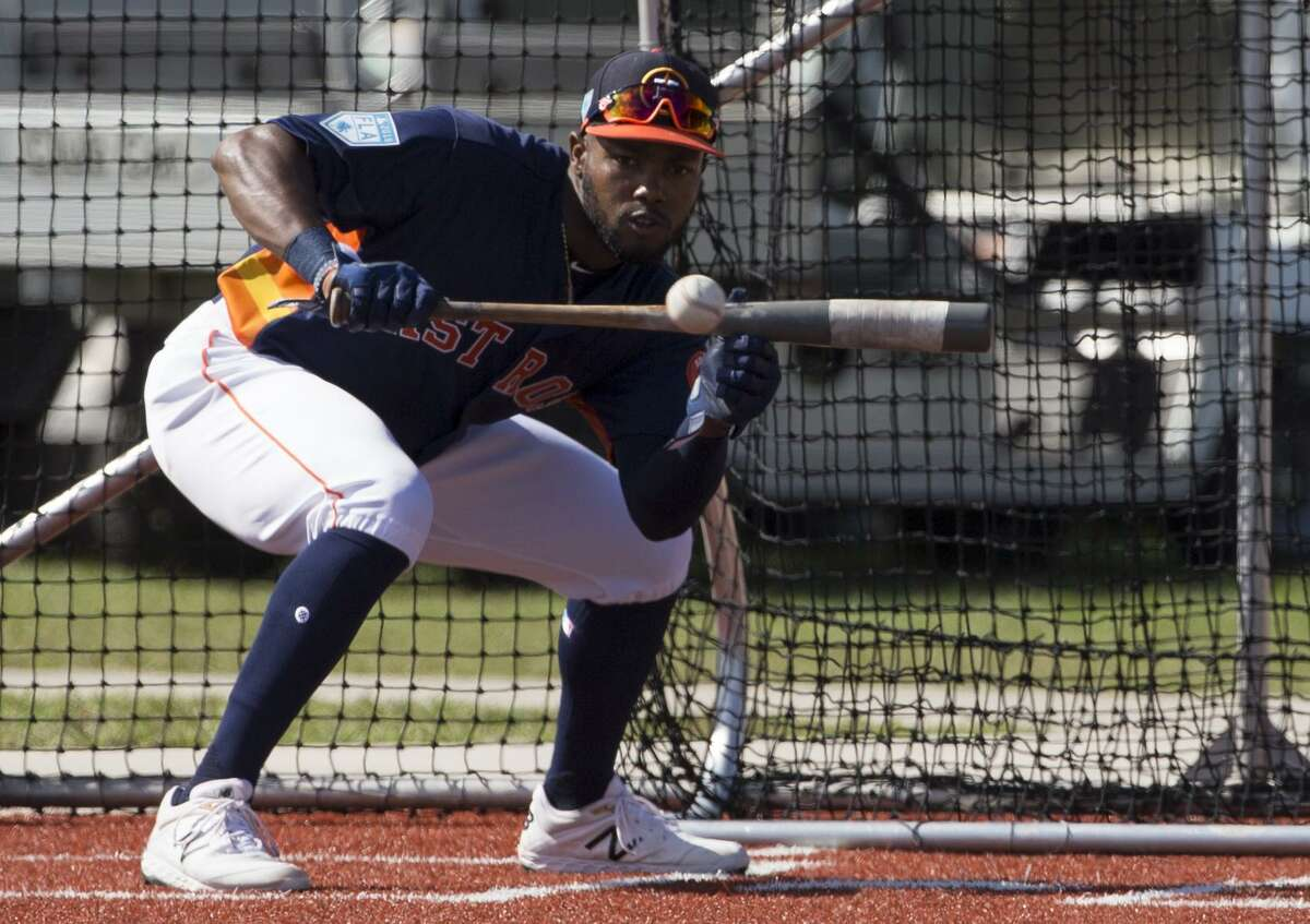 Ronnie Dawson works on his bunting when the Astros outfield prospect isn't perfecting his dance moves for social media.