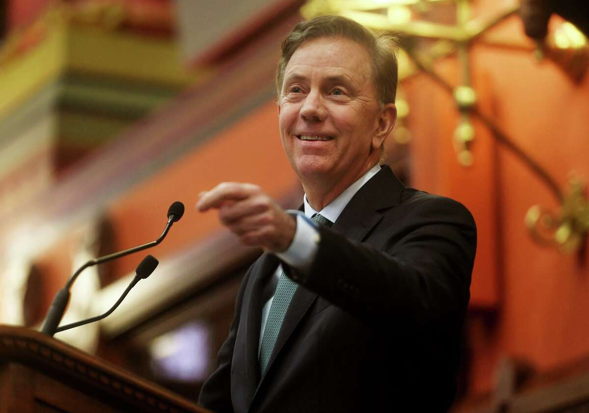 Governor Ned Lamont delivers his budget address to the general assembly at the Capitol in Hartford, Conn. on Wednesday, February 20, 2019.