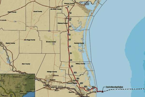 The Houston office of Canadian midstream giant Enbridge has started service on a $1.5 billion pipeline to move natural gas from the Agua Dulce hub near Corpus Christi to customers south of the border in Mexico.