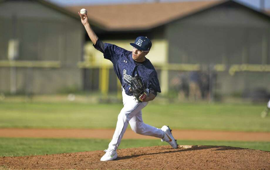 Alexander pitcher Alan Ferreyro was one of three along with Robert Villarreal and Sergio Galvan to combine for a no-hitter Saturday at Alice. Photo: Danny Zaragoza /Laredo Morning Times / Laredo Morning Times