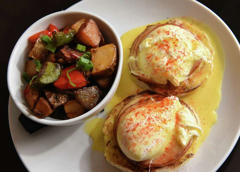 Benny -Two poached eggs served over toasted English muffins with hollandaise and Canadian bacon at Mercantile Kitchen on Friday Feb. 15, 2019 in Saratoga Springs, N.Y. (Lori Van Buren/Times Union) Photo: Lori Van Buren / 40046211A