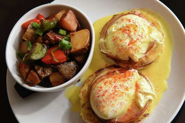 Benny -Two poached eggs served over toasted English muffins with hollandaise and Canadian bacon at Mercantile Kitchen on Friday Feb. 15, 2019 in Saratoga Springs, N.Y. (Lori Van Buren/Times Union)