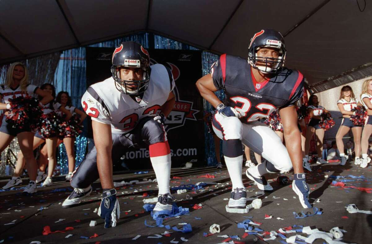 The Texans' primary uniforms have gone virtually unchanged since they were unveiled Sept. 25, 2001, before their arrival as the NFL's 32nd franchise.