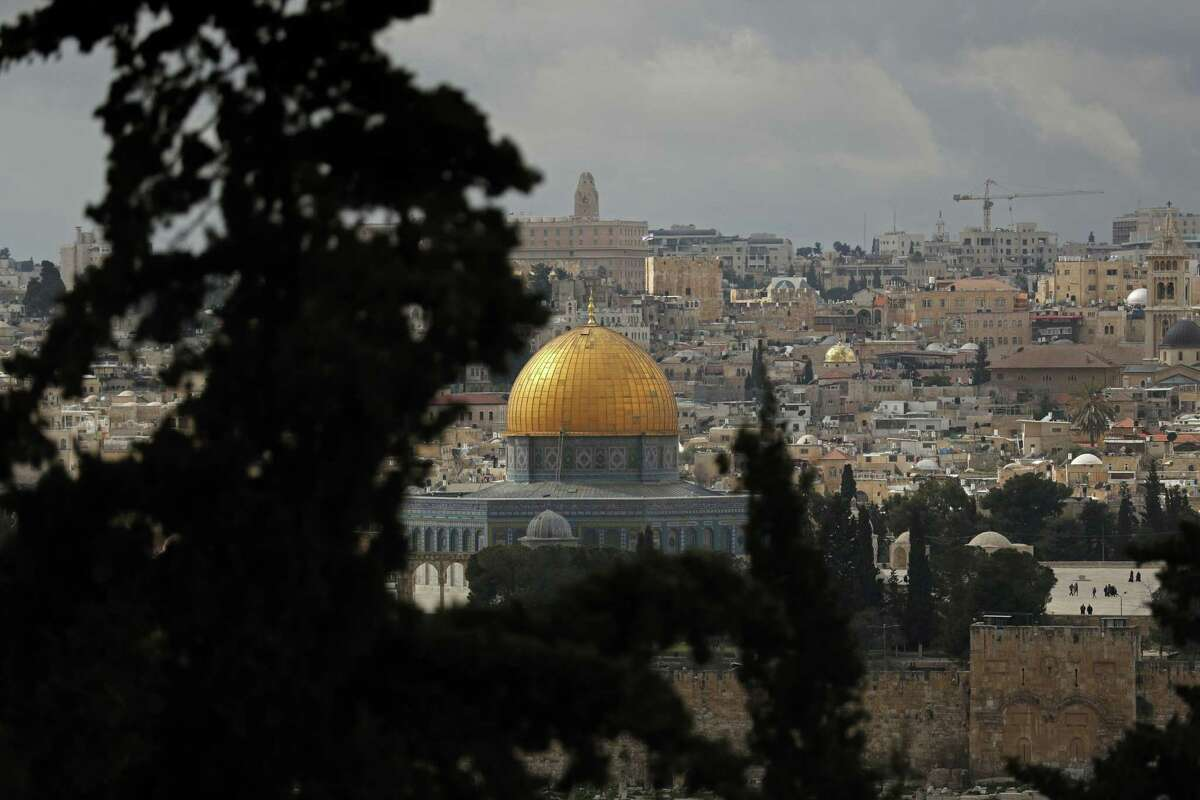 A photograph taken from the Mount of Olives on Feb. 19, 2019, shows a general view of the Old City of Jeruslem and the Dome of the Rock.