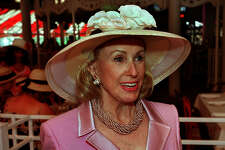 Socialite Marylou Whitney at the opening day of the Saratoga Race Track on Wednesday, July 26, 2000. (Skip Dickstein/Times Union)