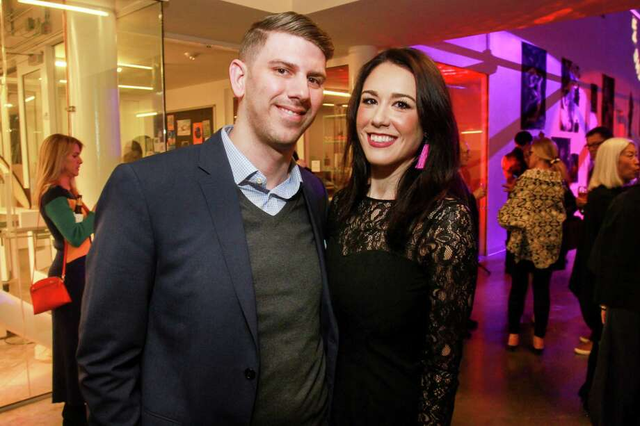 Matt Smith and Gabriella Wise at the Moody Center for the Arts' first-ever dinner at Rice University. Photo: Gary Fountain, Contributor / © 2019 Gary Fountain