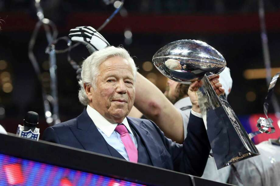 New England Patriots owner Robert Kraft celebrates a win against the Los Angeles Rams after NFL Super Bowl 53, Sunday, February 3, 2019 in Atlanta. The Patriots won 13-3. (AP Photo/Gregory Payan) Photo: Gregory Payan, Associated Press / Copyright 2019 The Associated Press. All rights reserved.