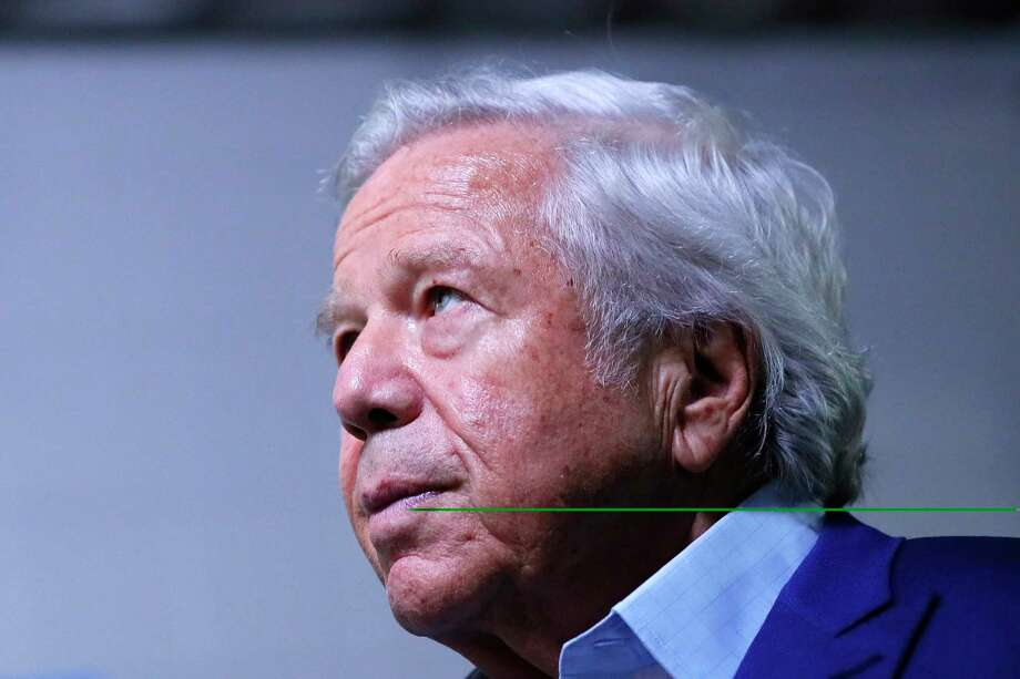 New England Patriots owner Robert Kraft faces two counts of soliciting prostitution in connection with a human trafficking investigation at a Florida spa. Photo: Kevin C.  Cox, Getty Images / 2019 Getty Images
