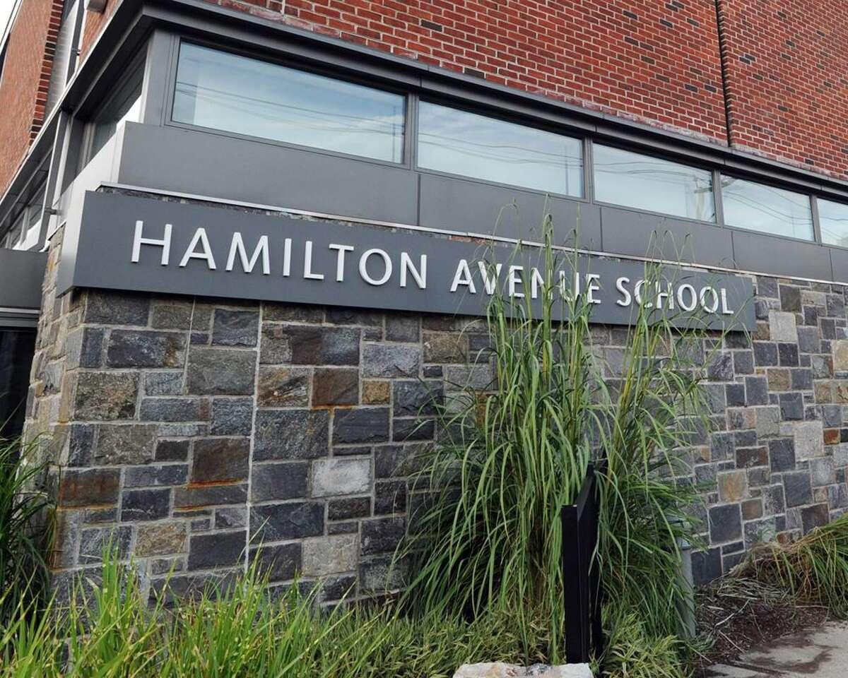Exterior of the Hamilton Avenue School building