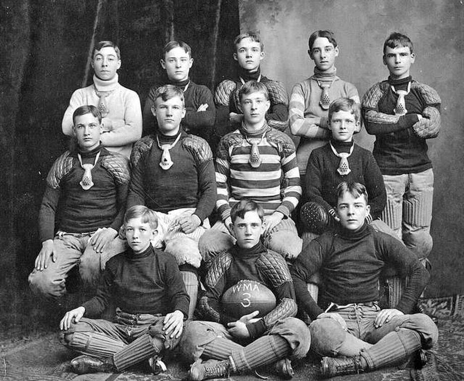 Upper Alton's Western Military Academy played the first high school football game ever played in the St. Louis area in 1895. This was the school's freshman team in 1903. Photo: File Photo