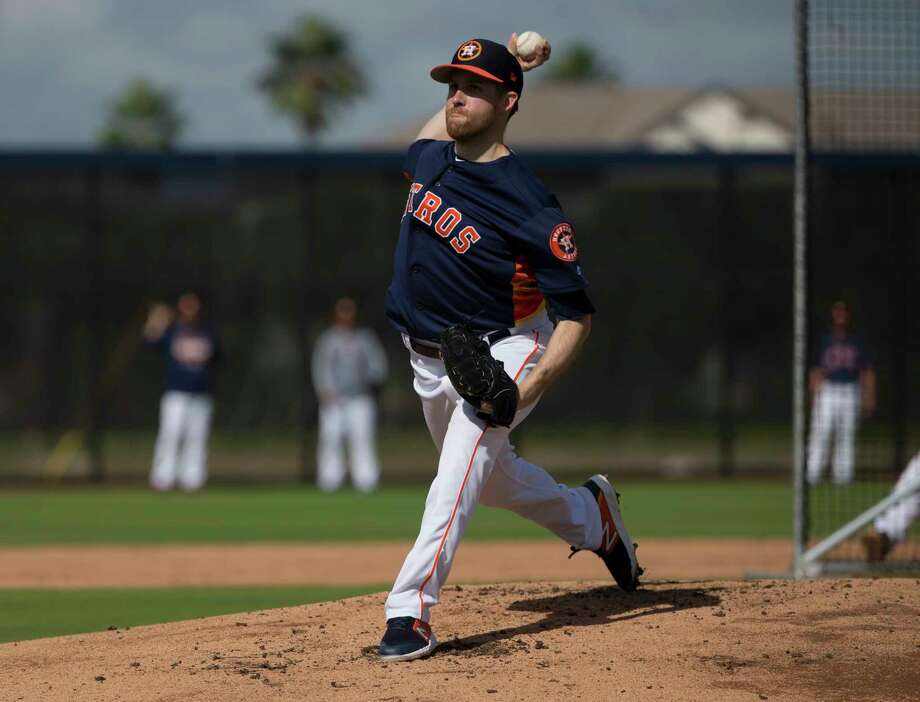 PHOTOS: Houston Astros top prospects in 2019  Houston Astros right handed pitcher Collin McHugh (31) pitches during live batting practice at Fitteam Ballpark of The Palm Beaches on Day 9 of spring training on Friday, Feb. 22, 2019, in West Palm Beach.  >>>Browse through the slideshow for a look at the Houston Astros' top prospects heading into the 2019 season ... Photo: Yi-Chin Lee, Staff Photographer / © 2019 Houston Chronicle