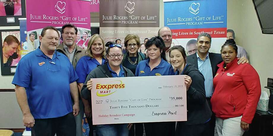 Exxpress Mart  owners Imad and  Elias Sarkis donated $35,000 to the Gift of  Life in February 2019. The money was raised at during a  holiday drive at the brothers' 22 convenience stores. Photo: Courtesy Photo