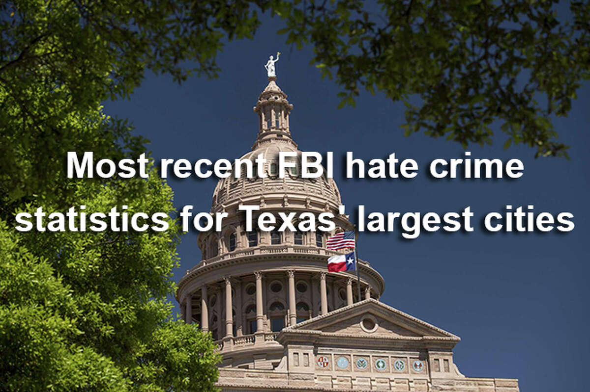 Click through the slideshow to see the major Texas cities with the most hate crimes.