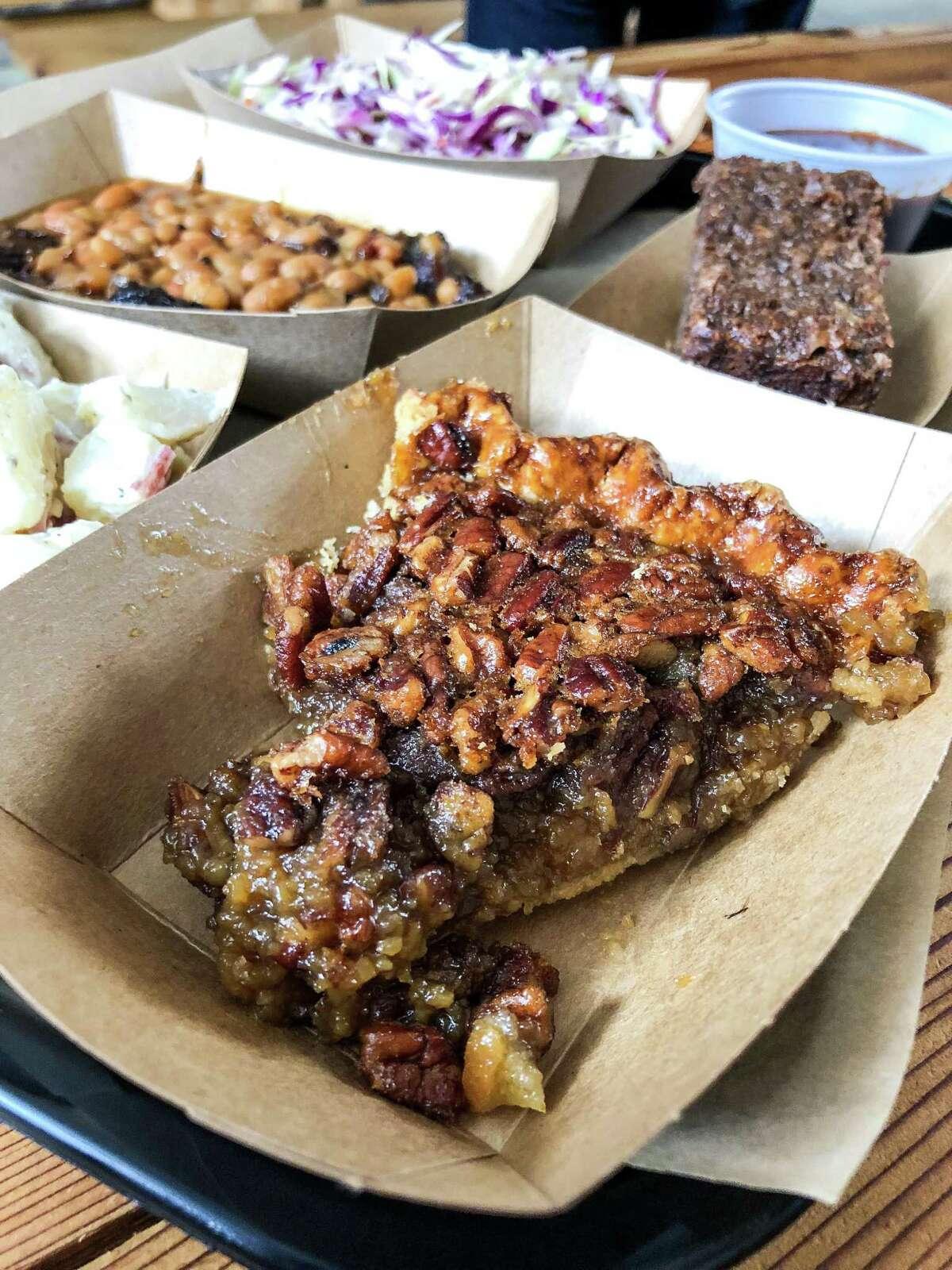 Pecan pie at Harlem Road Texas BBQ in Richmond