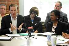 U.S. Senator Chris Murphy, D-Conn., and Miriam Delphin-Rittmon, Department of Mental Health & Addiction Services commissioner, held a roundtable discussion at the Kinsella Treatment Center in Bridgeport last year.